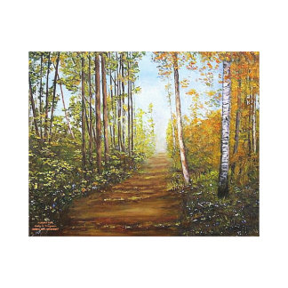 """AUTUMN PATH"" WRAPPED CANVAS"