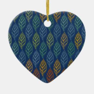Autumn pattern a ceramic ornament