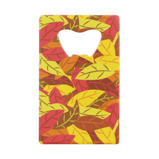 Autumn pattern colored warm leaves