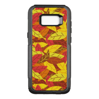 Autumn pattern colored warm leaves OtterBox commuter samsung galaxy s8+ case