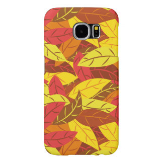 Autumn pattern colored warm leaves samsung galaxy s6 cases