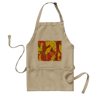 Autumn pattern colored warm leaves standard apron