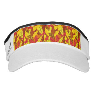 Autumn pattern colored warm leaves visor