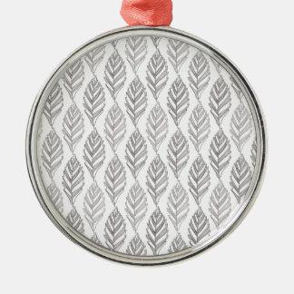 Autumn pattern metal ornament