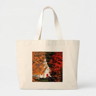 Autumn Peaking Color Vermont Tote Bags