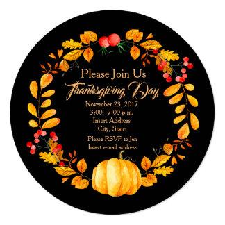 Autumn Personalised Thanksgiving Invitation