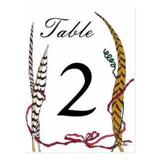 Autumn Pheasant Table Number Card for Reception Postcard