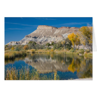 Autumn Photo of Mt.Garfield and Pond Card