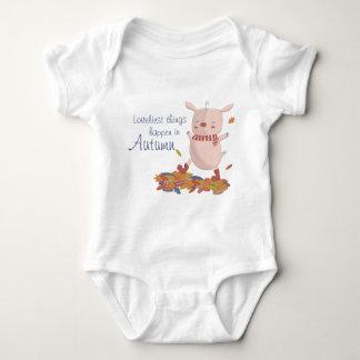 Autumn piggy baby bodysuit