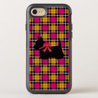 Autumn pink/Autumn gold plaid Scottish Terrier OtterBox Symmetry iPhone 8/7 Case