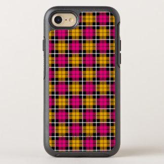 Autumn pink/Autumn gold plaid white stripe OtterBox Symmetry iPhone 8/7 Case