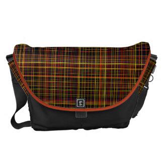 Autumn Plaid Messenger Bags