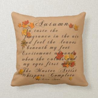 Autumn Poem Cushion
