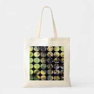 Autumn Polka Dots Golden Branches + Leaves Tote Bag