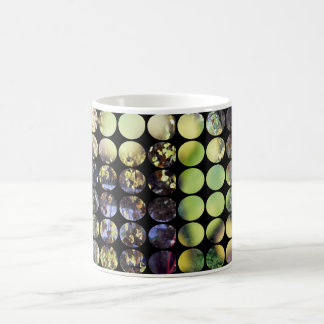 Autumn Polka Dots Golden Branches + Leaves Coffee Mugs