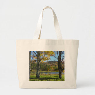 Autumn Pond Large Tote Bag