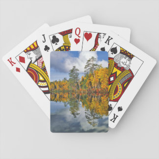 Autumn pond reflections, Maine Poker Deck