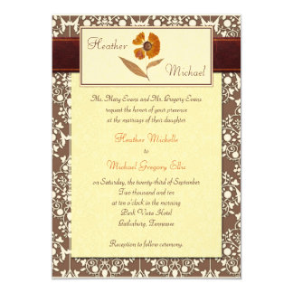 Autumn Pressed Flower Wedding Invitation