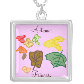 Autumn Princess Silver Plated Necklace