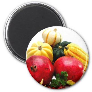 Autumn Produce 6 Cm Round Magnet