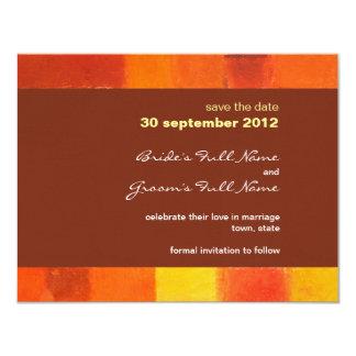 Autumn pueblo Wedding Save the Date Card 11 Cm X 14 Cm Invitation Card