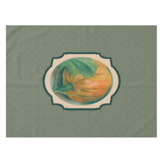 Autumn Pumpkin and Leaf Pastel Thanksgiving Tablecloth