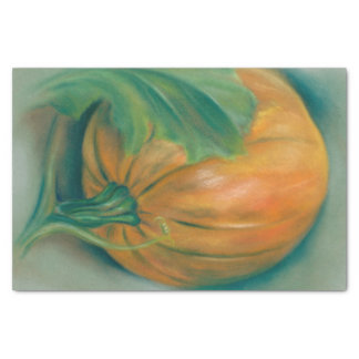 Autumn Pumpkin and Leaf Pastel Thanksgiving Tissue Paper