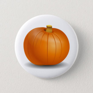 Autumn Pumpkin Button