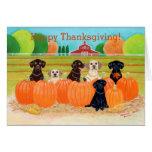 Autumn Pumpkin Labradors Painting