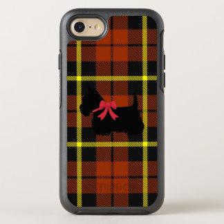 Autumn pumpkin orange with Scottish Terrier dog OtterBox Symmetry iPhone 8/7 Case