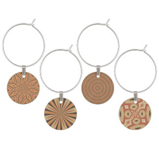 Autumn Pumpkin Spice Colors Wine Charms