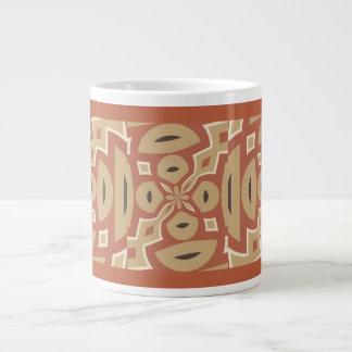 Autumn Pumpkin Spice Design with Brick Red Trim Jumbo Mug