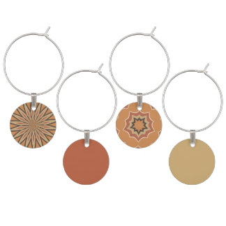 Autumn Pumpkin Spice Designs and Colors Wine Charms