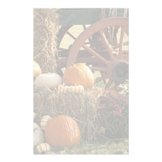 Autumn Pumpkins And Mum Display Custom Stationery