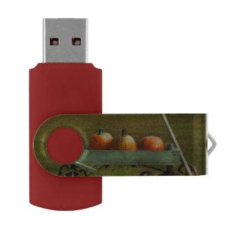 Autumn - Pumpkins - Free ride Swivel USB 2.0 Flash Drive