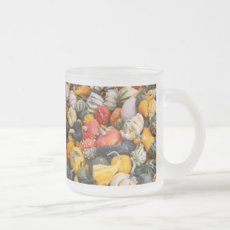 Autumn Pumpkins, Gourds and Squashes Frosted Glass Mug