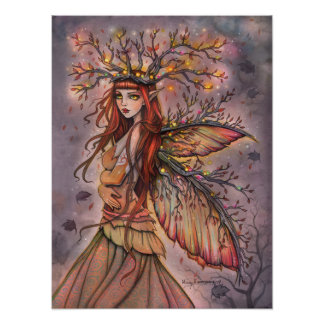 Autumn Queen Fairy Fantasy Art by Molly Harrison Poster