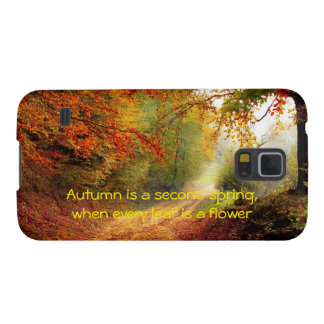 Autumn quote galaxy s5 covers