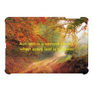 Autumn quote iPad mini covers