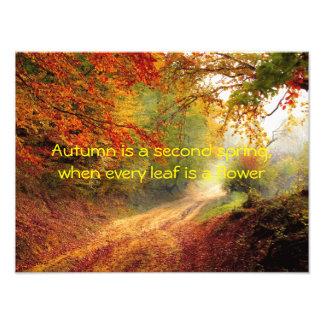 Autumn quote photo art