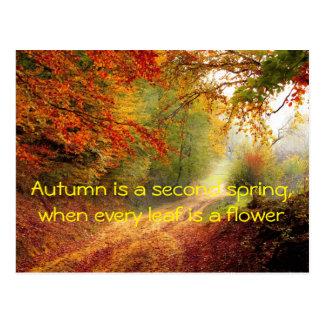 Autumn quote postcard