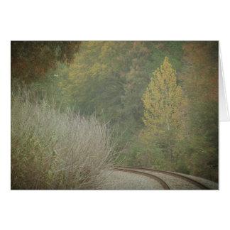 Autumn Railroad note card