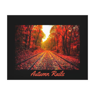 Autumn Rails Canvas Print