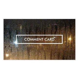 autumn rain comment card business card template