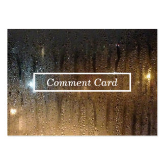 autumn rain comment card pack of chubby business cards
