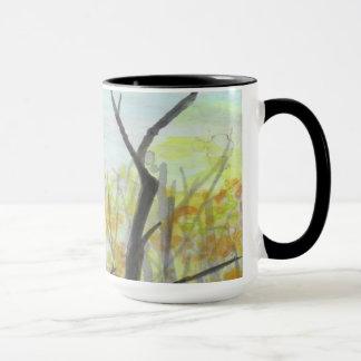 Autumn Raven serene trees Bird Nature art Mugs