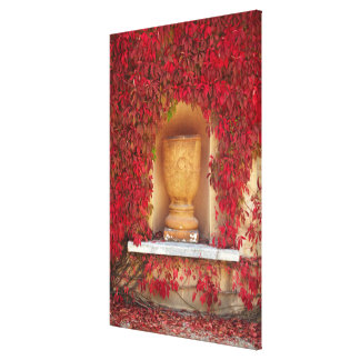 Autumn red foliage, New Zealand Canvas Print