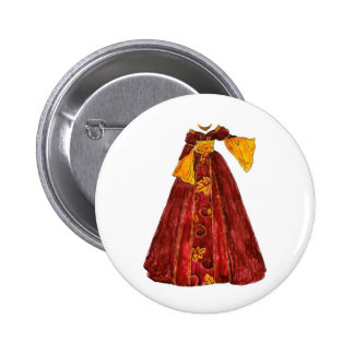 Autumn Red Gown 6 Cm Round Badge