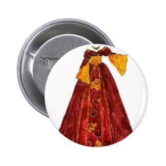 Autumn Red Gown 6 Cm Round Badge