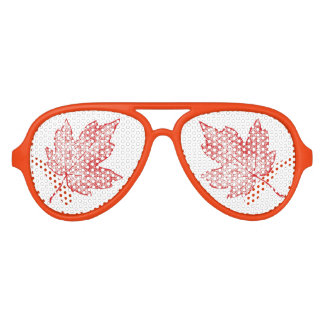 Autumn Red Maple Leaf Sun Shades
